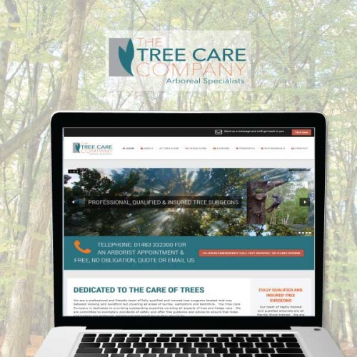website, branding. marketing, the tree care company, woking surrey