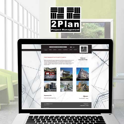 website, branding and marketing, 2plan project management, woking surrey